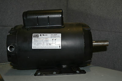 WEG 00536OS1CCDG56 AC Electric Motor 1Ph 5HP 56H Frame, 3600 RPM, 208-230 Volts
