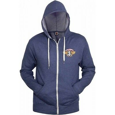 Powell Peralta - Winged Ripper Zippered Hoodie Navy Small