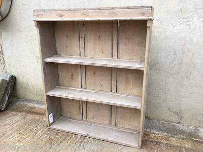 "Reclaimed Victorian Satin Walnut Three Shelf Bookcase 37¼"" Wide"