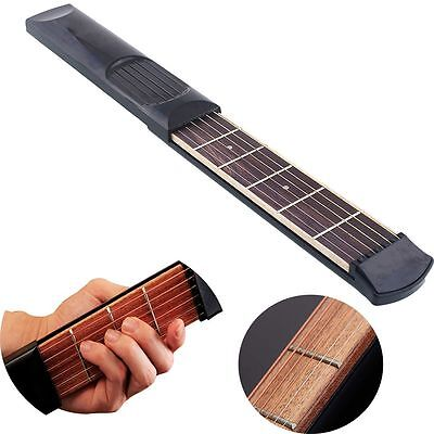 Instrument Gadget Pocket Guitar Beginners Practicing Tool 4 Fret 6 Strings