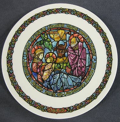 In the Manger Collector Plate Andre Restieau Stained Glass Christmas