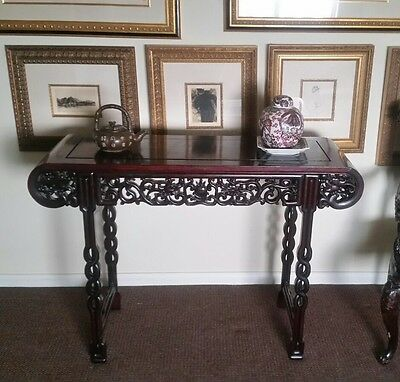 1800's Antique Chinese Alter Table Hand Carved extremely Rare (SALE)
