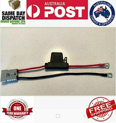 FUSED Anderson Lead 50amp plug to 8mm Lugs 6 mm cable
