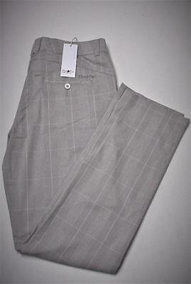 New Ladies Size US 16 Daily Sports lightweight grey  plaid golf pants