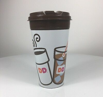 Dunkin Donuts Travel Mug Cup 14oz 2014 Refillable with lid