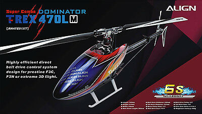 ALIGN Helicopter RH47E01XW  T-REX 470LM Super Combo NEW