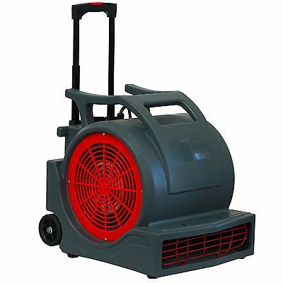 MOUNTO  1HP 4000CFM Air Mover Floor Dryer with Handle (Gray)
