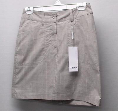 New Ladies Size US 2 Daily Sports lightweight grey plaid golf skorts skirt