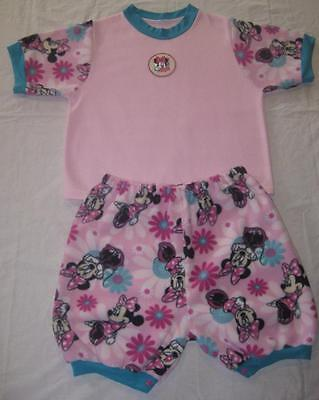 """Adult Baby 42"""" MINNIE MOUSE Fleece TOP & 49"""" Snap SHORT SET, by LL"""