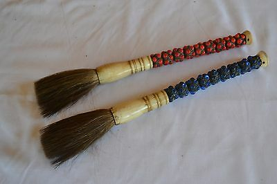 Pair of Asian Painter Brushes