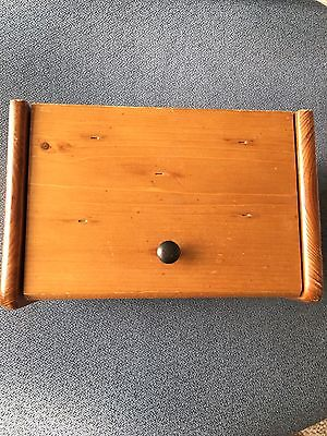 Vintage Wooden Recipe Box Holder With Divider Tabs Country Primitive