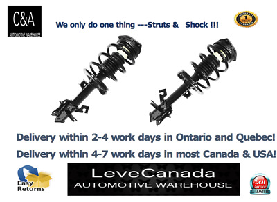 Pair Front Quick Complete Struts & Coil Spring for  2007-2012 Nissan Sentra