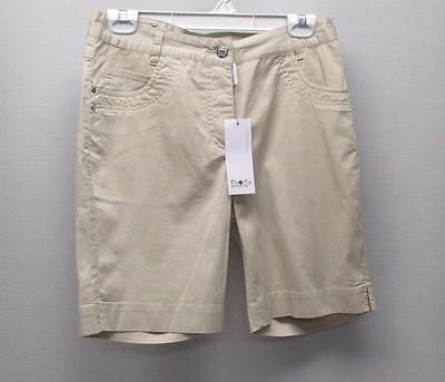 New Ladies Size US 8 Daily Sports lightweight sand cotton spandex golf shorts