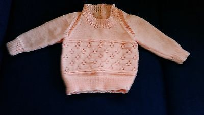 Apricot Jumper Hand Knitted (size - 1)