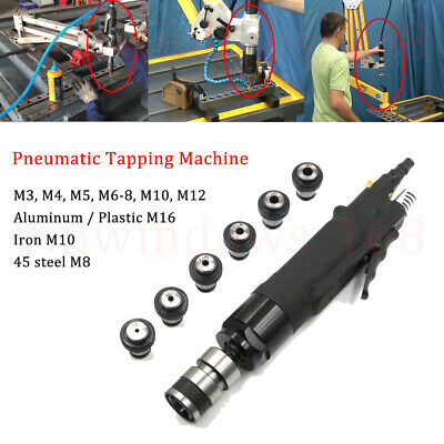 200rpm PneumaticTapping Machine Air Hand Taper&Drill Chuck M3-M12 for Drilling