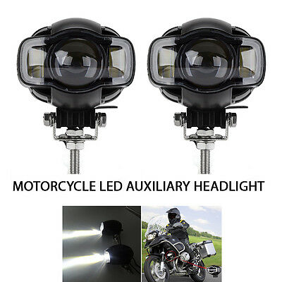 2PC Motorcycle LED Auxiliary Spot Fog Lamps for BMW R-1200G Lights with USB Port