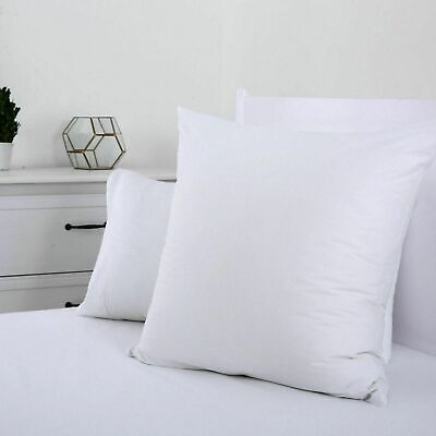 250TC EURO Pillow Home Cover Bedding Pillowcase Protector Single & Twin Pack