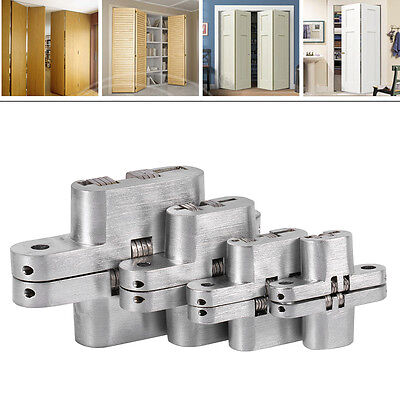 180º Hidden Hinges Invisible Concealed Cross Folding Door Hinge Bearing 10KG/2X