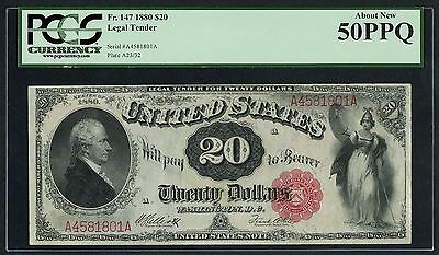 Fr147 $20 1880 Series Legal Tender Pcgs About New 50 Ppq Wlm3303