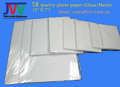 "5R (5"" X 7"") Quality Photo Paper (Matte/Gloss) 40 sheets/pack"