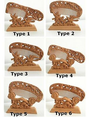 Wood Peach Wooden Hair Comb Lucy Decoration Blessing Wedding Gift