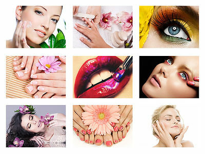 Salon Spa Health Beauty Collage A4 260Gsm Poster Print