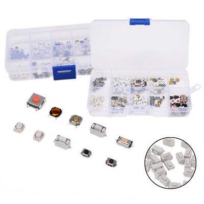 250Pcs 10Types Tactile Button Switch Micro Button Switch SMD SMT Remote Control