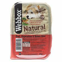 PET-225042 - Webbox Natural Tray Beef & Brown Rice7 x 400g