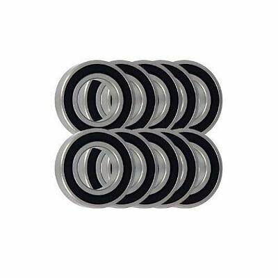 Pack of 10 - Thin Section Rubber Sealed MTB Bike Ball Bearings - Choose Size