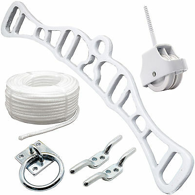 WASHING LINE AIRER PULLEY ASSORTMENT KIT Clothes/Cord/Hang/Dryer/Traditional/Set