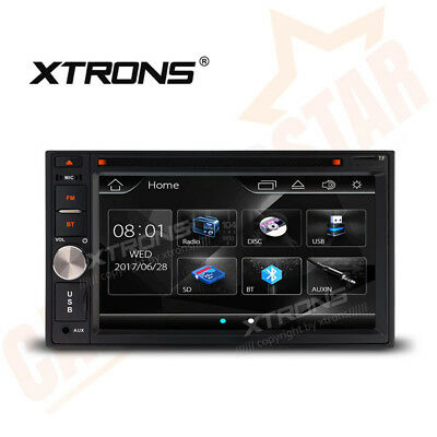 "Double 2 DIN 6.2"" In Dash GPS Car Stereo Radio CD DVD Player FM USB SD Bluetooth"