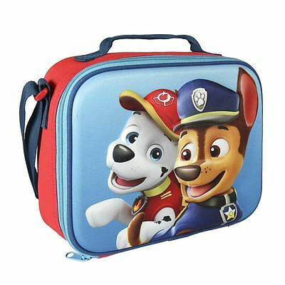 Paw Patrol Children Kids Chase & Marshall 3D Effect Thermal Blue Lunch Bag