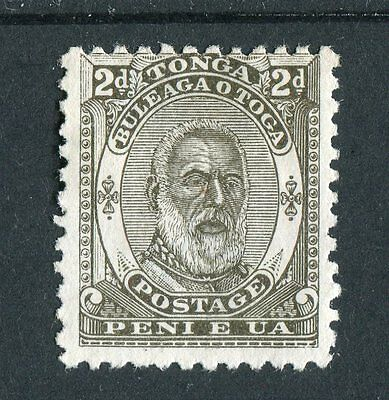 Tonga QV 1892 2d olive SG11 mounted MNG