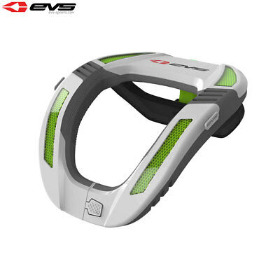 EVS R4K Koroyd Motorcycle Bike Reinforced Neck Protector Adult - White/Green