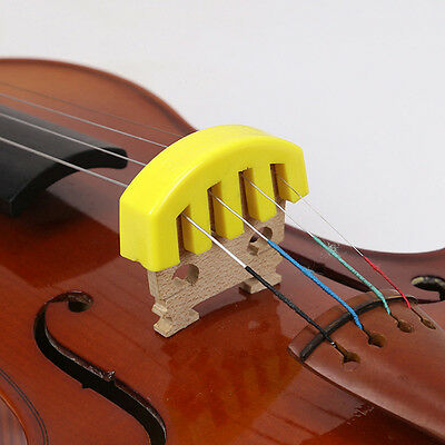 Yellow Ultra Heavy Rubber Practice Mute for 4/4 Violin Vioin Accessories Supply