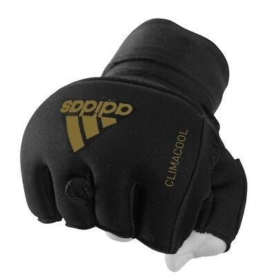 Adidas Quick Wrap Boxing Gel Padded Hand Wraps Climacool Sparring Gloves Black