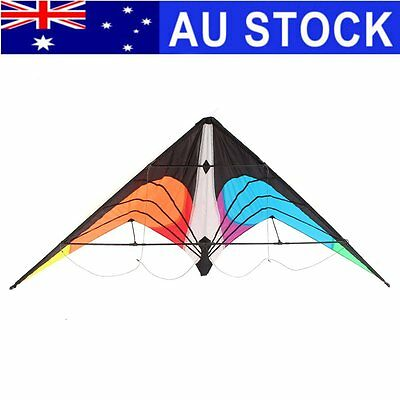 1.8m Stunt Kite Triangle Delta Outdoor Fun Sports Children Toy Gifts + 30m Line