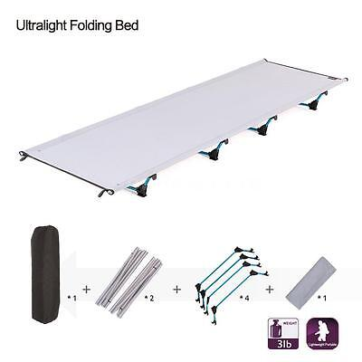 Portable Lightweight Camping Cot Portable Folding Sleeping Bed Outdoor New D5P8