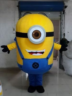 Hot sale!Minions Despicable Me Mascot Costume EPE Fancy Dress Outfit Adult +