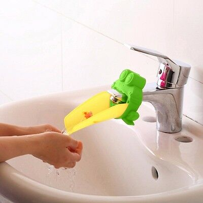 Kids Bathroom Safety Tap Faucet Extender Children Baby Animal crab frog UK sink