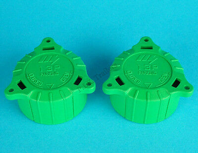 2 x Replacement Green Alignment Cap Plug Keeper for 13 Pin or 8 Pin Towing Plugs
