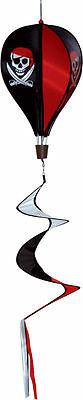Hot Air Balloon Spinner -Pirate-WINDSOCK/FLAG POLE caravan camping/ garden