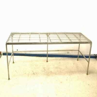 "Stainless Steel 96"" Length x 30"" Width x 28"" Height Wire Top Work Table"