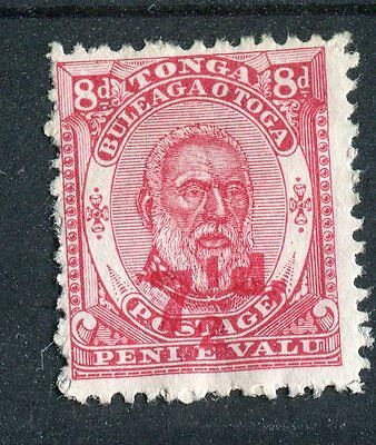Tonga QV 1893 7.5d surcharge SG18 mounted mint