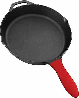 Pre Seasoned 12.5 Inches Cast Iron Skillet with Rubber handle  Utopia Kitchen