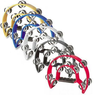 Stagg TAB-1 Cutaway Tambourine - Yellow, Blue, White, Black or Red
