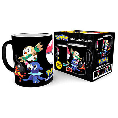 Official Licensed Product Pokemon Heat Changing Mug Sun and Moon Starter Cup New