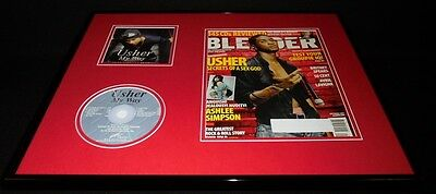 Usher 16x20 Framed ORIGINAL 2004 Blender Magazine Cover & My Way CD Display