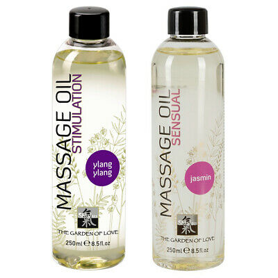 HOT Shiatsu Massage-Öl 250 ml Gel Jasmin Sensual Ylang Stimulation Gleitgel