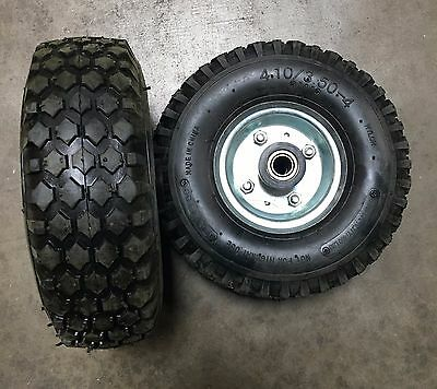 "1 Pair of 10"" Flat Free Tubeless No Air Solid Tire Wheel for All-Purpose Utility"